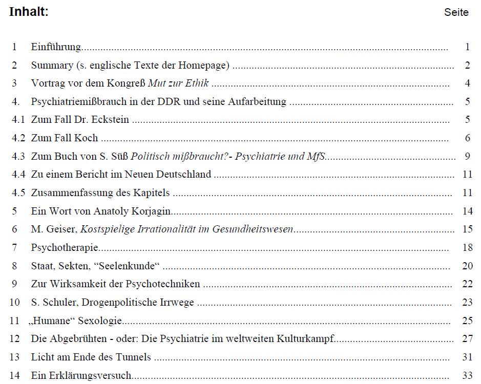 Deutsche Vereinigung gegen politischen Mißbrauch der Psychiatrie ...